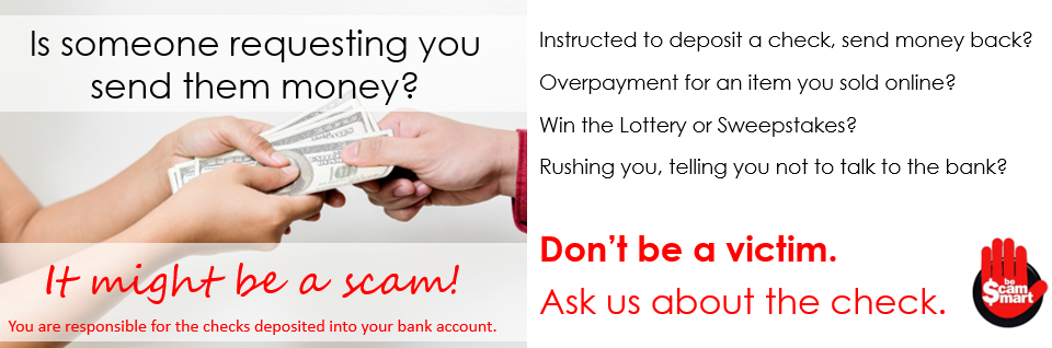 Scams are everywhere. Don't be a victim!