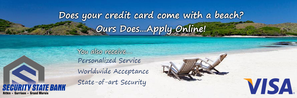 Does your credit card come with a beach? Ours Does…Apply Online!